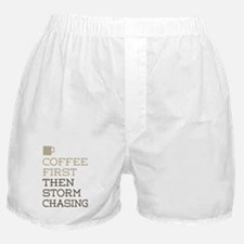 Coffee Then Storm Chasing Boxer Shorts