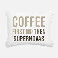 Coffee Then Supernovas Rectangular Canvas Pillow