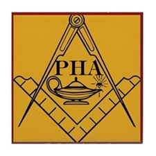 PHA on the square. Tile Coaster