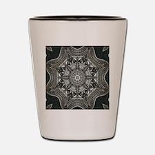 vintage astrology metal mandala Shot Glass