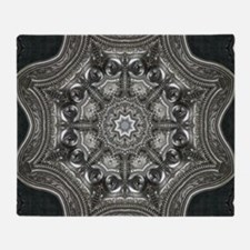 vintage astrology metal mandala Throw Blanket