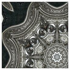 vintage astrology metal mandala Poster