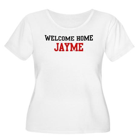 Welcome home JAYME Women's Plus Size Scoop Neck T-