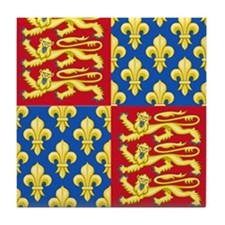 Royal Arms of England and France Tile Coaster