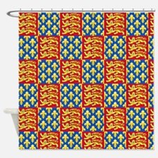 Royal Arms of England and France Shower Curtain