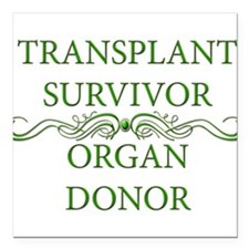 """DONOR.png Square Car Magnet 3"""" x 3"""""""