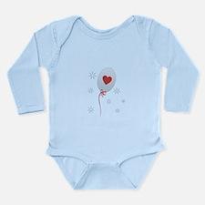 Red Balloon Celebratio Long Sleeve Infant Bodysuit