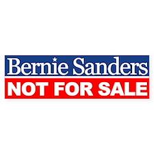 Bernie Not For Sale Bumper Bumper Sticker