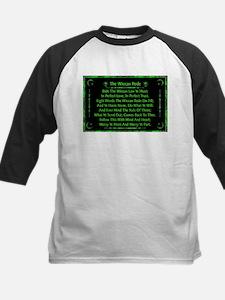 Rede in Green on Black Kids Baseball Jersey