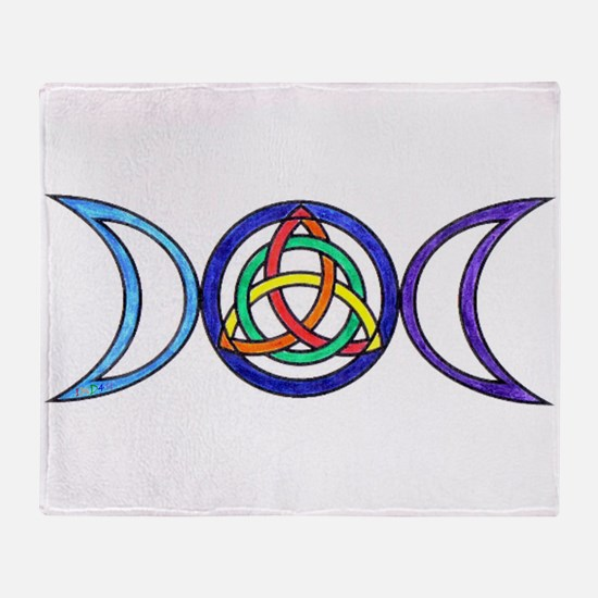 Funny Wiccan Throw Blanket
