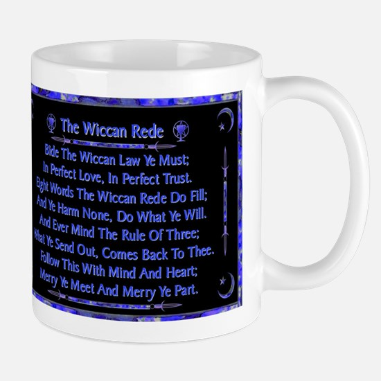 Rede in Blue on Black Mugs