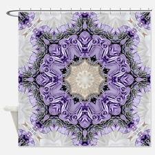 purple lilac mandala bohemian Shower Curtain