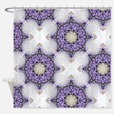 purple floral moroccan pattern Shower Curtain