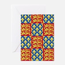 Royal Arms of England and France Greeting Cards