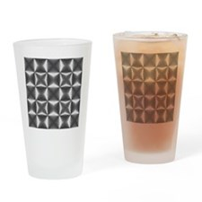 silver geometric pattern industrial Drinking Glass