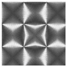 silver geometric pattern industrial Poster