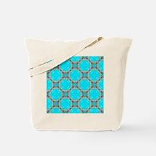 moroccan pattern turquoise Quatrefoil  Tote Bag