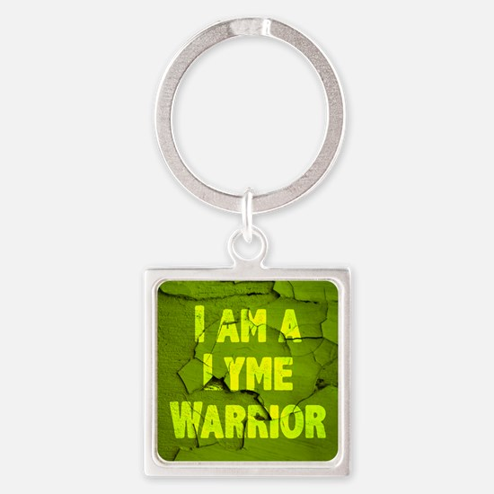 I Am A Lyme Warrior Square Keychain