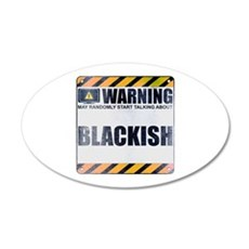 Warning: Blackish 22x14 Oval Wall Peel