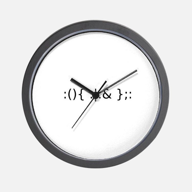 Fork Bomb Wall Clock