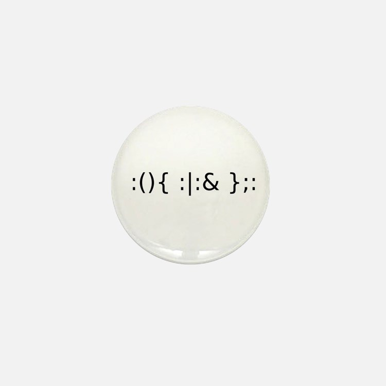 Fork Bomb Mini Button (10 pack)