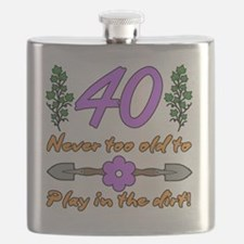 40th Birthday For Gardeners Flask