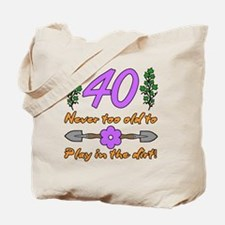 40th Birthday For Gardeners Tote Bag