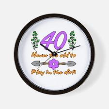 40th Birthday For Gardeners Wall Clock