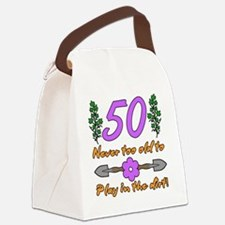 50th Birthday For Gardeners Canvas Lunch Bag