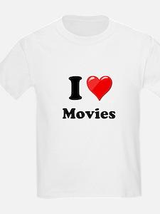 I Heart Love Movies T-Shirt
