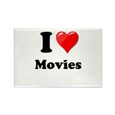 I Heart Love Movies Magnets