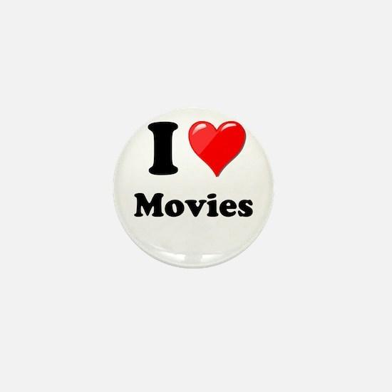 I Heart Love Movies Mini Button