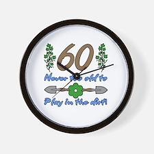 60th Birthday For Gardeners Wall Clock