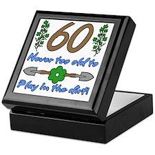 60th Birthday For Gardeners Keepsake Box