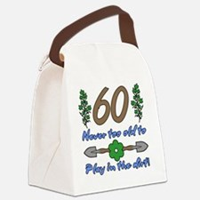 60th Birthday For Gardeners Canvas Lunch Bag