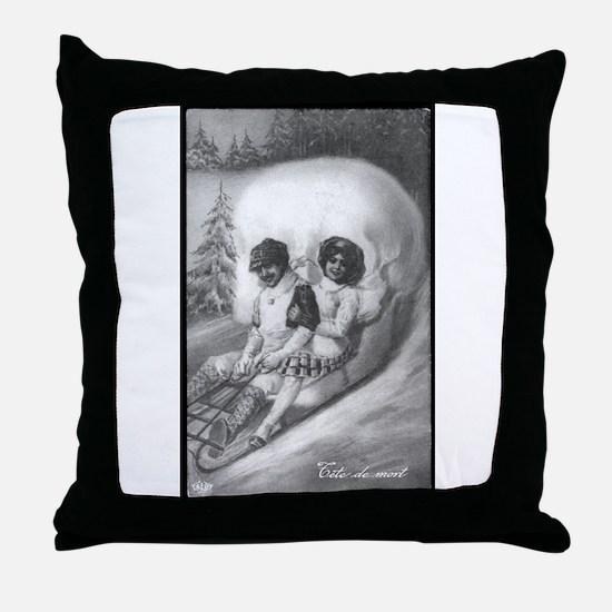 """""""Tete de mort"""" Throw Pillow"""