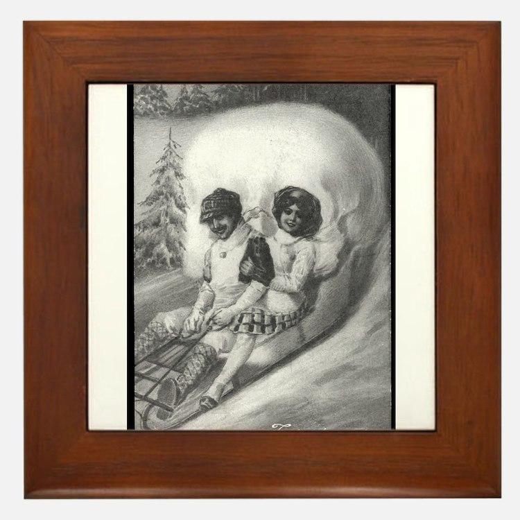 """""""Tete de mort"""" Framed Tile"""