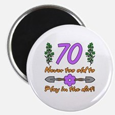 70th Birthday For Gardeners Magnet