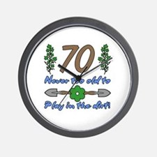 70th Birthday For Gardeners Wall Clock