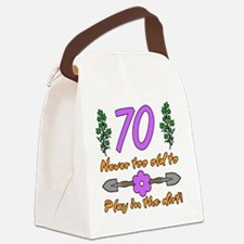 70th Birthday For Gardeners Canvas Lunch Bag