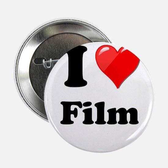 """I Heart Love Film 2.25"""" Button"""