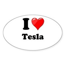 I Love Tesla Decal