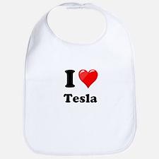 I Love Tesla Bib