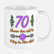 70th Birthday For Gardeners Mugs