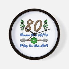 80th Birthday For Gardeners Wall Clock