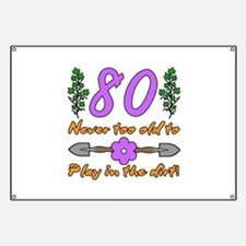 80th Birthday For Gardeners Banner