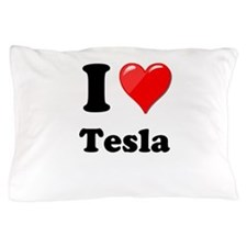 I Love Tesla Pillow Case