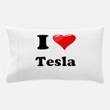 I Love Tesla Pillow Case