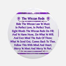 Rede Violet on White Round Ornament