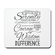 Serenity Prayer (chalk Text) Mousepad